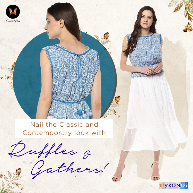 Flawlessly pair this easy care #ruffled crop top with #sleek and #tailored pants #ScarletRoss #ensemble #ootd #mood  http:// bit.ly/ScarletRoss  &nbsp;  <br>http://pic.twitter.com/CJmPzdm2up