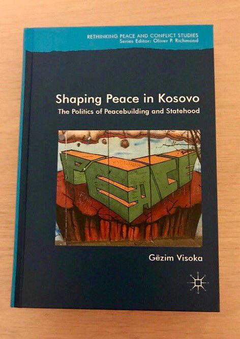 Launch of @gezimvisoka&#39;s latest book 'Shaping Peace in #Kosovo&#39;, 6.30pm, tomorrow  at @RIAdawson #loveirishresearch #allwelcome<br>http://pic.twitter.com/WaSPUnp94U