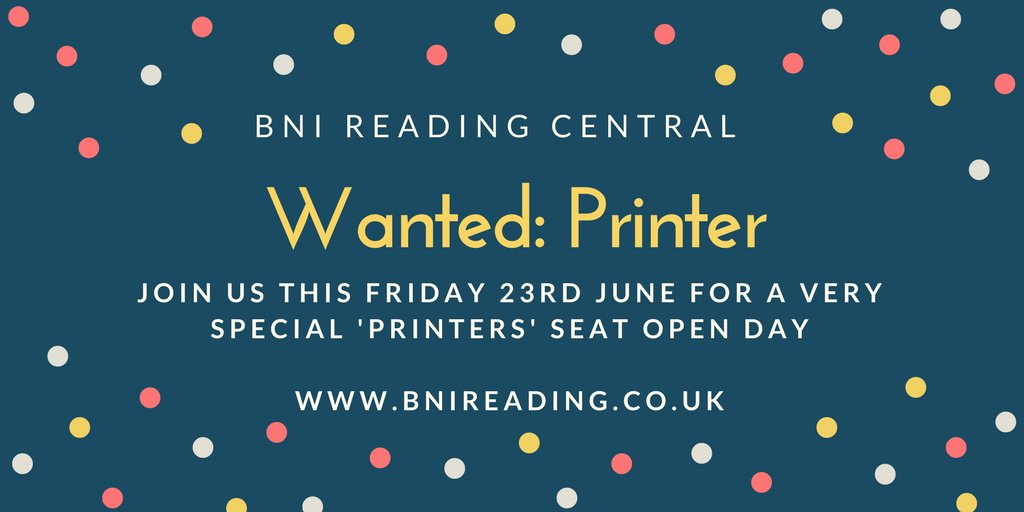 Are you a #printer based in #rdguk?  Looking for more business?  We have a Visitor Day this Friday 23 June, 6.30am at Green Park - join us?<br>http://pic.twitter.com/D7hqlZZmcL