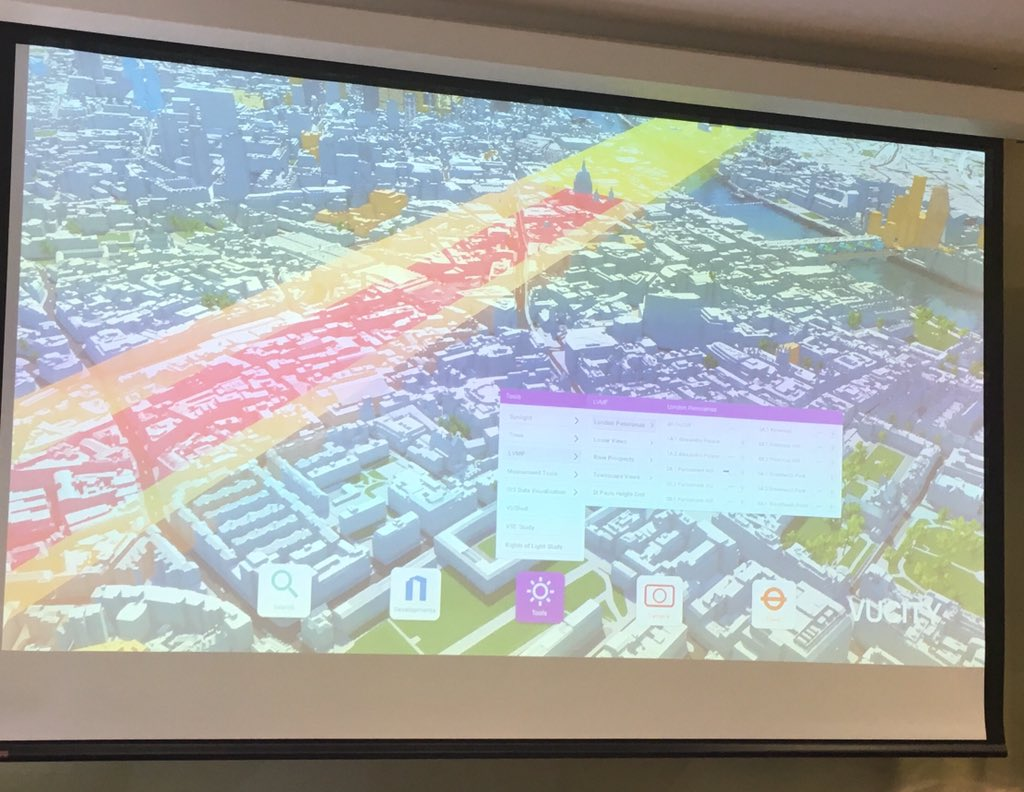Impressive demo by #vucity on 3D digital mapping of London & amazing uses #ULITech17