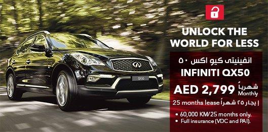 Avis Car Rental Uae On Twitter Infiniti Qx50 Lease