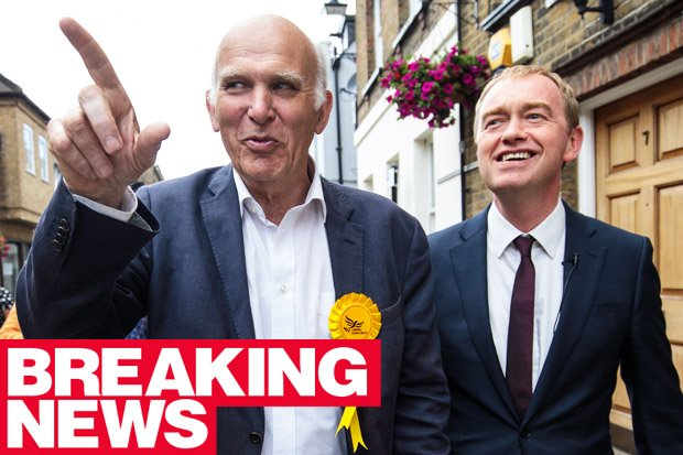BREAKING: Vince Cable throws hat into the ring to replace Tim Farron #LibDems https://t.co/n4szO7RjZ0