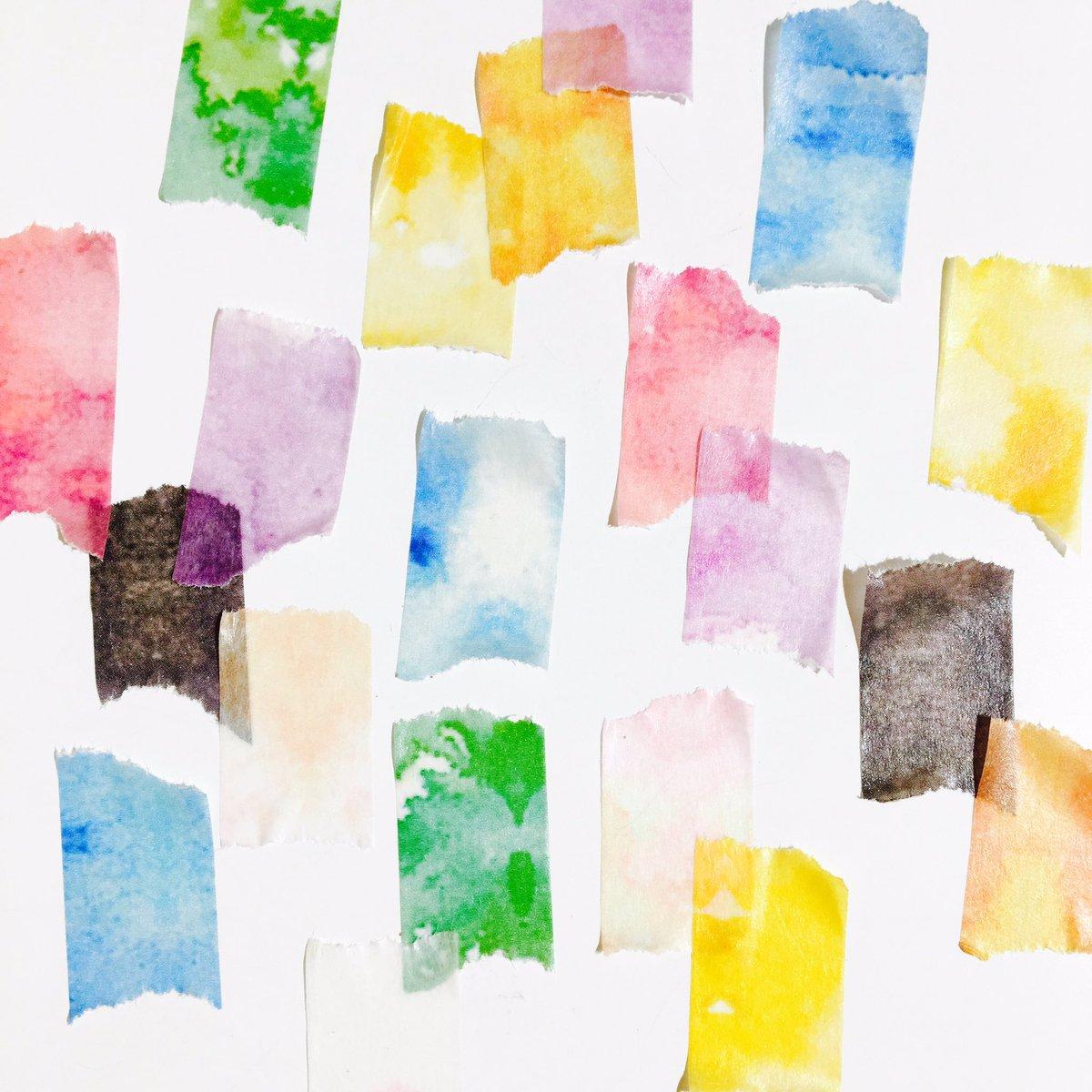 【新宿店】彩り水彩マスキングテープの8色セットが入荷しました(OvO) 水彩風のテクスチャーがとってもステキ!ちぎり絵のようにペタペタ貼ったり色の重なりを楽しんだり、まるで絵具のように使える魅惑のマスキングテープです◎