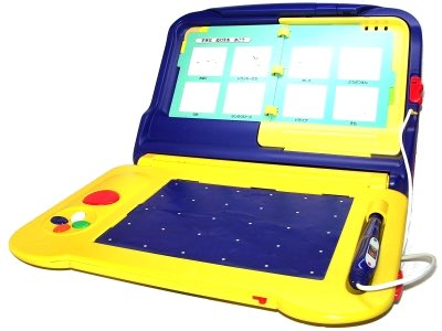 これテレビに接続して、上のページめくりながら進めるピコっていうゲーム機なんだけど、どの世代まで知ってるのかなー?_(┐「ε:)_