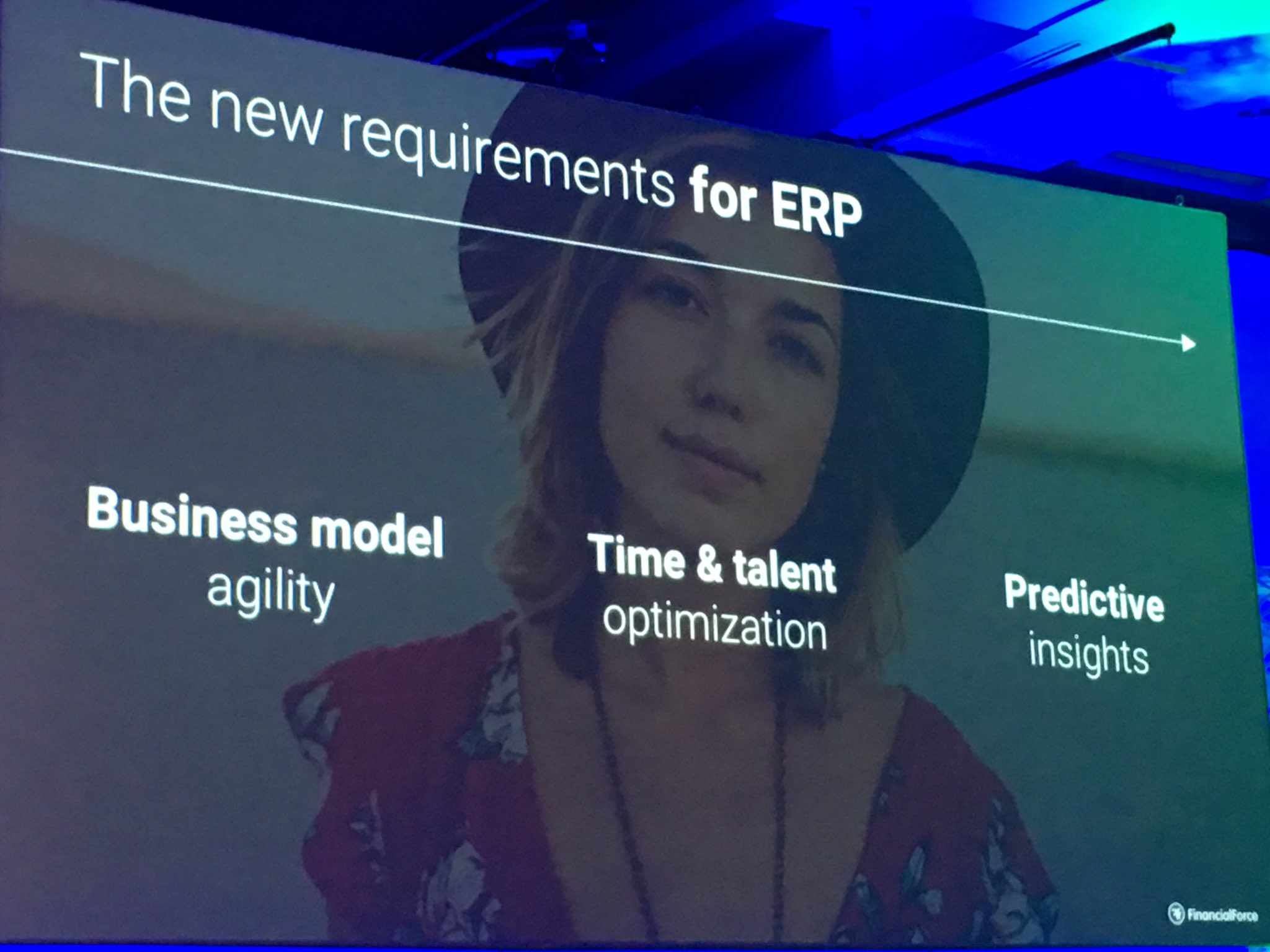 MyPOV: the 3 themes for @FinancialForce latest release.  Business model agility  Time and talent optimization  Predictive insights #FFComm17 https://t.co/ql3Wrut52O