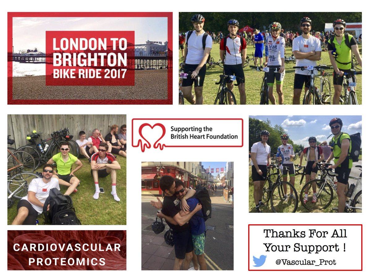 We survived #LondontoBrighton ! Thanks to everyone who supported our ride. Already looking forward to #L2B18