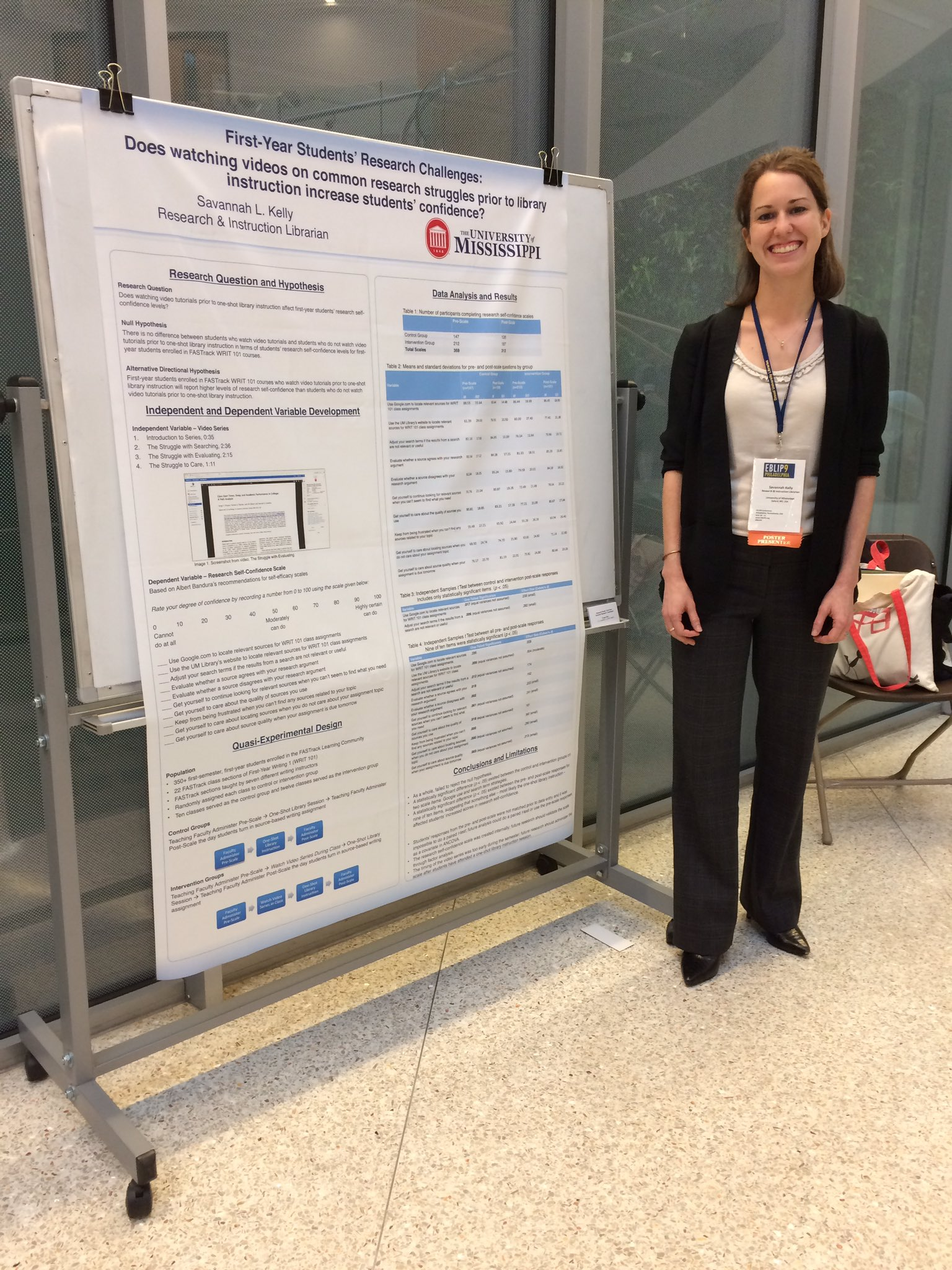 Research & Instuction Librarian Savannah is presenting her research at @eblip9 this week! https://t.co/byNHDyDxGO