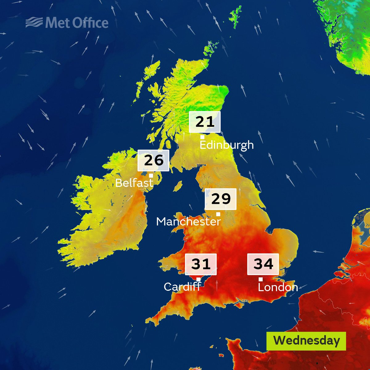 ☀️☀️Tomorrow will see the peak of the #heatwave, with highs reaching 34 °C, potentially making it the hottest June day since 1976! ☀️☀️