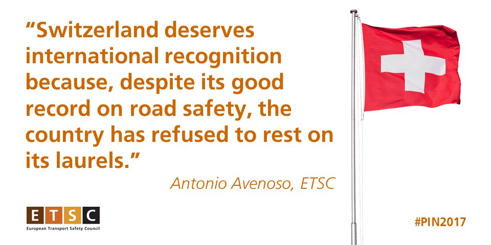Switzerland refused to rest on its laurels says ETSC exec. director Antonio Avenoso. #PIN2017 https://t.co/eytjbhUaDy #roadsafety https://t.co/Nnfwgl4dcM