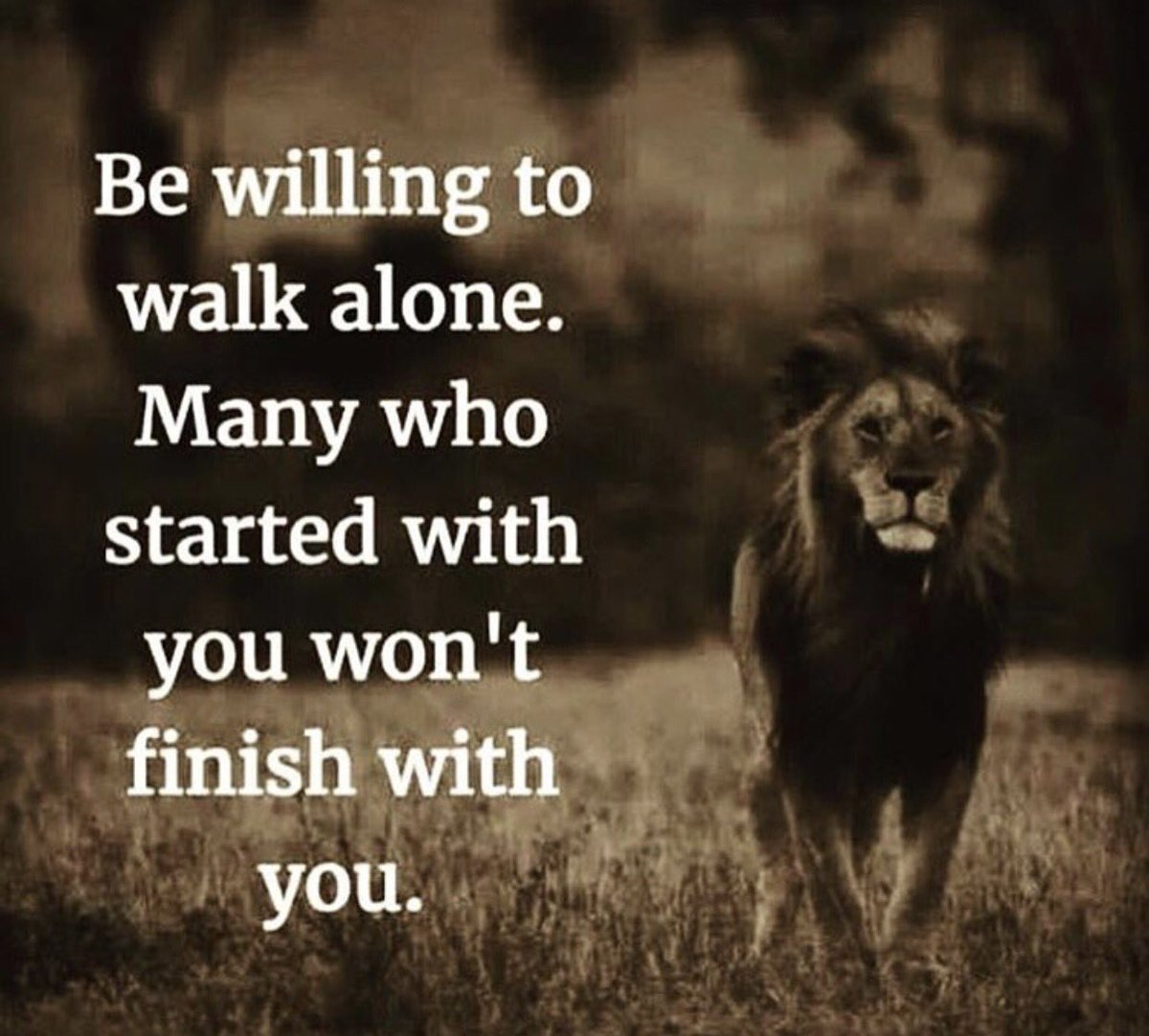 Нˆð§ð¬ð©ð¢ð«ðšðð¢ð¨ð§ðšð¥ Нð®ð¨ððžð¬ On Twitter Be Willing To Walk Alone Many Who Started With You Won T Finish With You Quotes