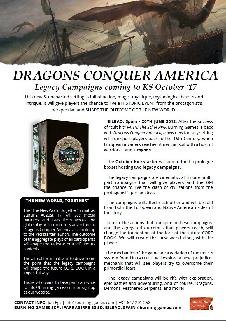 Preview of the Dragons Conquer America press release! #DCA #Fantasy #Tabletop #RPG #Indiedev #PressRelease #DnD #Gamedev<br>http://pic.twitter.com/GA7OomTB6P