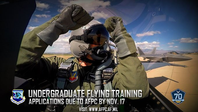 Your chance to participate in #AirForce undergraduate pilot training i...