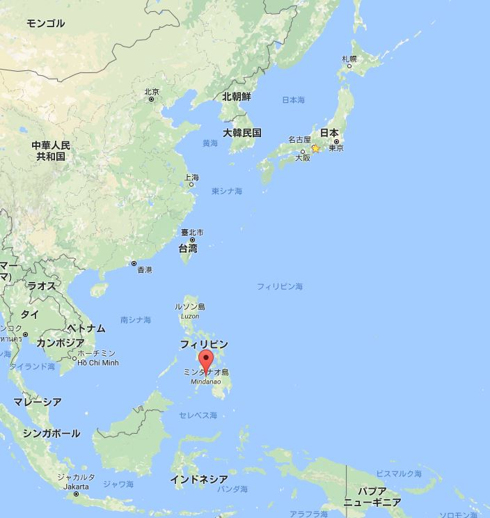 フィリピン 南部ミンダナオ島ってこんなに日本に近いんですよ? ここで空爆とか起きてるんですよ? なんで報道しないんですか? #tvasahi #報ST https://t.co/JnpH7K5ij5 https://t.co/1ClK0BljTx