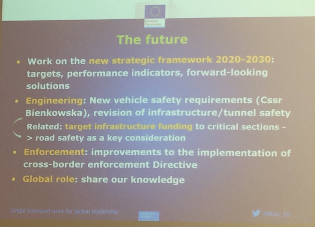 Current EU plans for road safety, presented by @Bulc_EU at the #PIN2017 conference. https://t.co/qLJGTfi3Yj