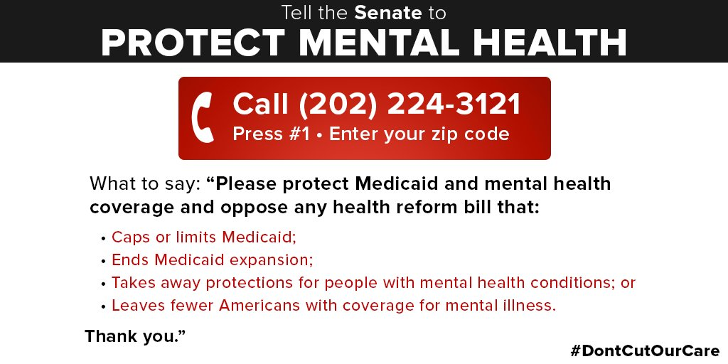Nami On Twitter If The Senate Short Changes Mental Health Coverage