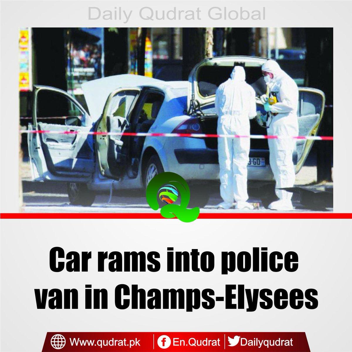 Read More: http:// qudrat.pk/world/20-06-20 17/car-rams-into-police-van-in-champs-elysees/ &nbsp; …   #Car #rams into #police #van in #Champs-#Elysees <br>http://pic.twitter.com/hnrV2zRg4r