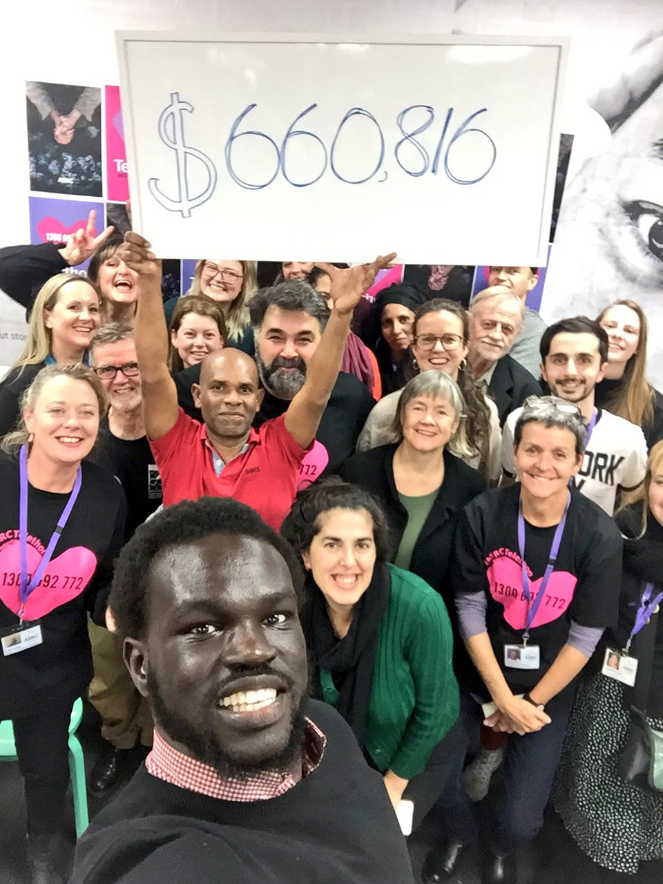 You've done something incredible today, I feel so filled with hope.  18 hours  1000s of donors  100s of volunteers   $660,816 #ASRCTelethon https://t.co/csNsfMxPaJ
