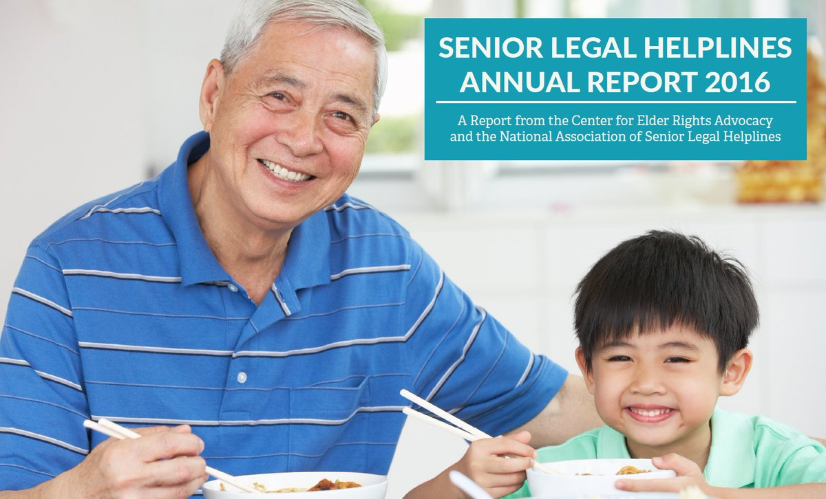 The Center for Elder Rights Advocacy is proud to release the 2016 #Senior Legal Helplines Annual Report. #CERA #data  http:// bit.ly/2swvDVZ  &nbsp;  <br>http://pic.twitter.com/F850wvLsfZ