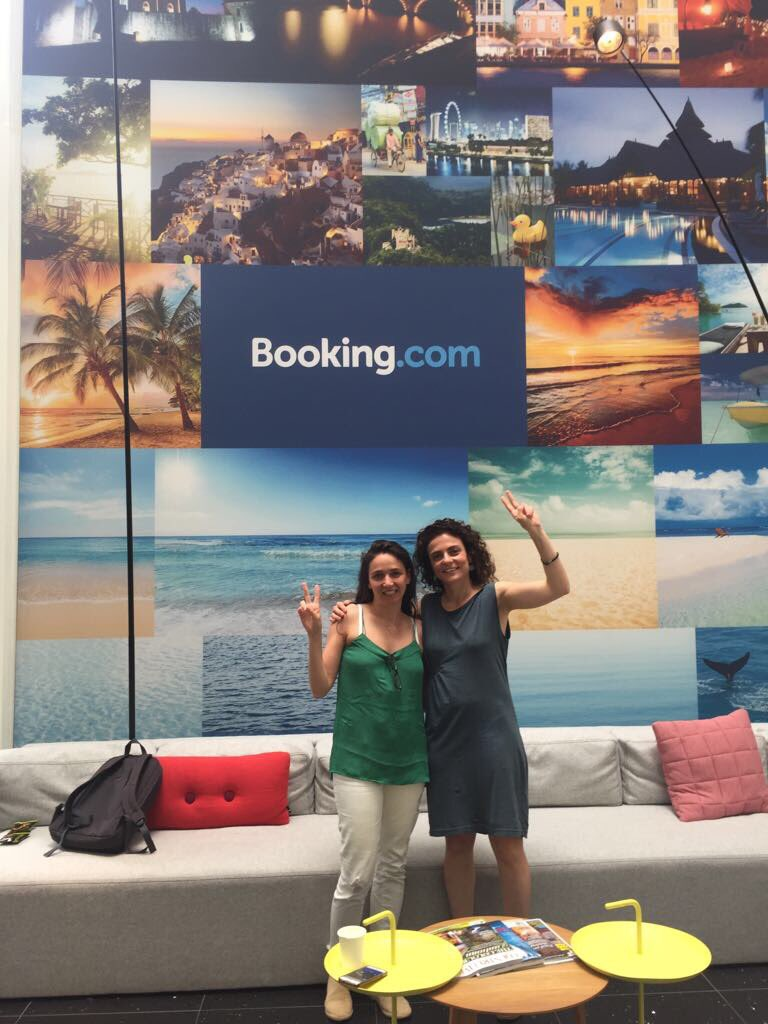 Dana &amp; Michal representing  http:// Visit.org  &nbsp;   at @bookingyeah&#39;s #bookingbooster this month. Thrilled to be among top travel startups! <br>http://pic.twitter.com/st7VMb4Lxr