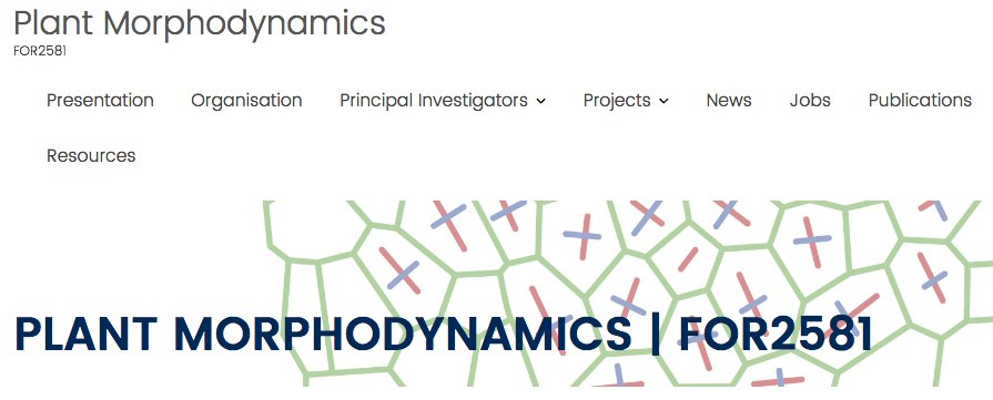 #icar2017 Hay advertises @dfg_public funded project on Plant Morphodynamics https://t.co/75SwR3ncuq  Jobs and resources available! https://t.co/aMMGto4Yvs