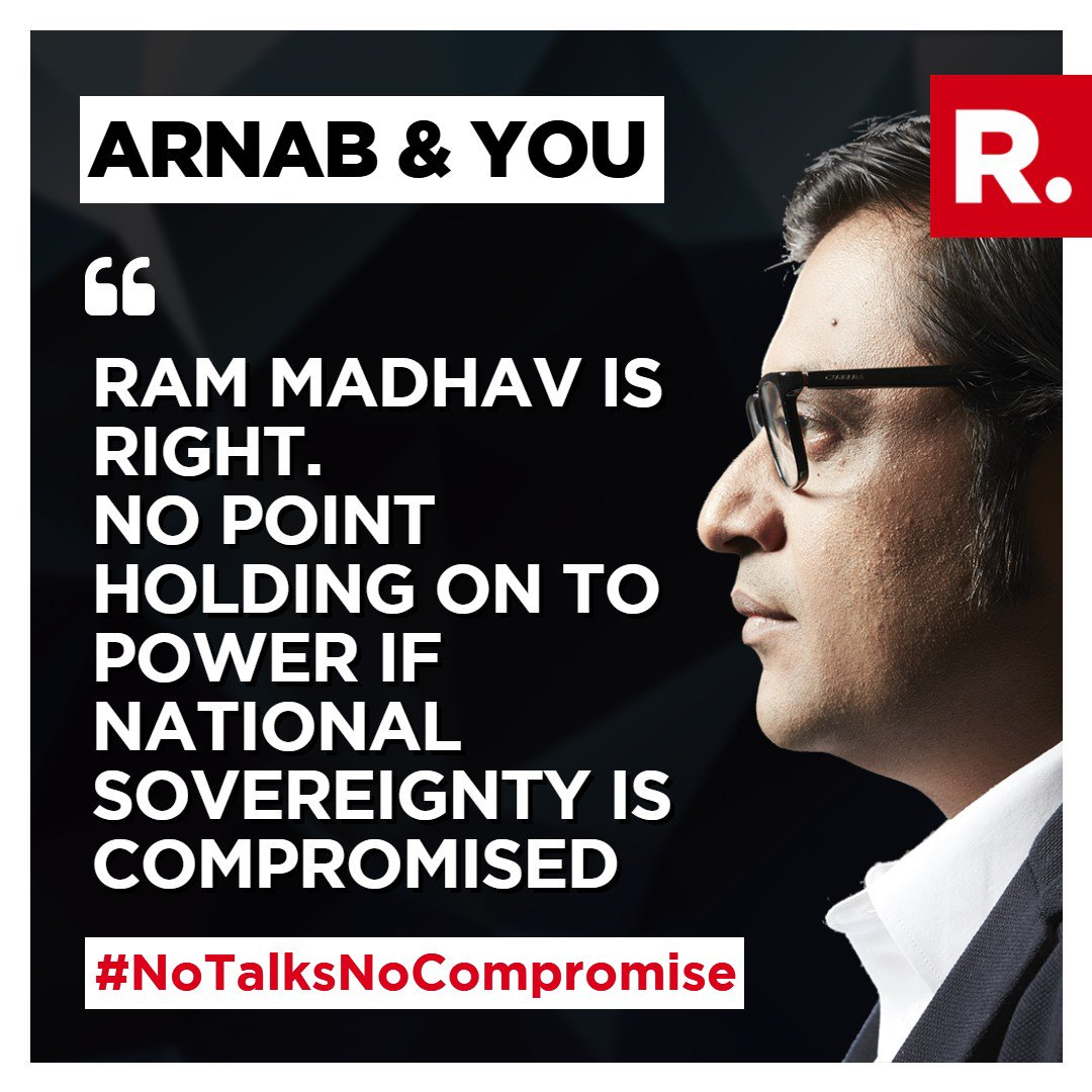 Join The Debate with Arnab, voice your views. Tweet using #NoTalksNoCompromise