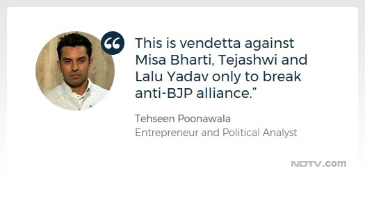 .@tehseenp on Lalu Yadav's family being charged with owning benami properties   Watch @LRC_NDTV https://t.co/hMlRpgrUU6