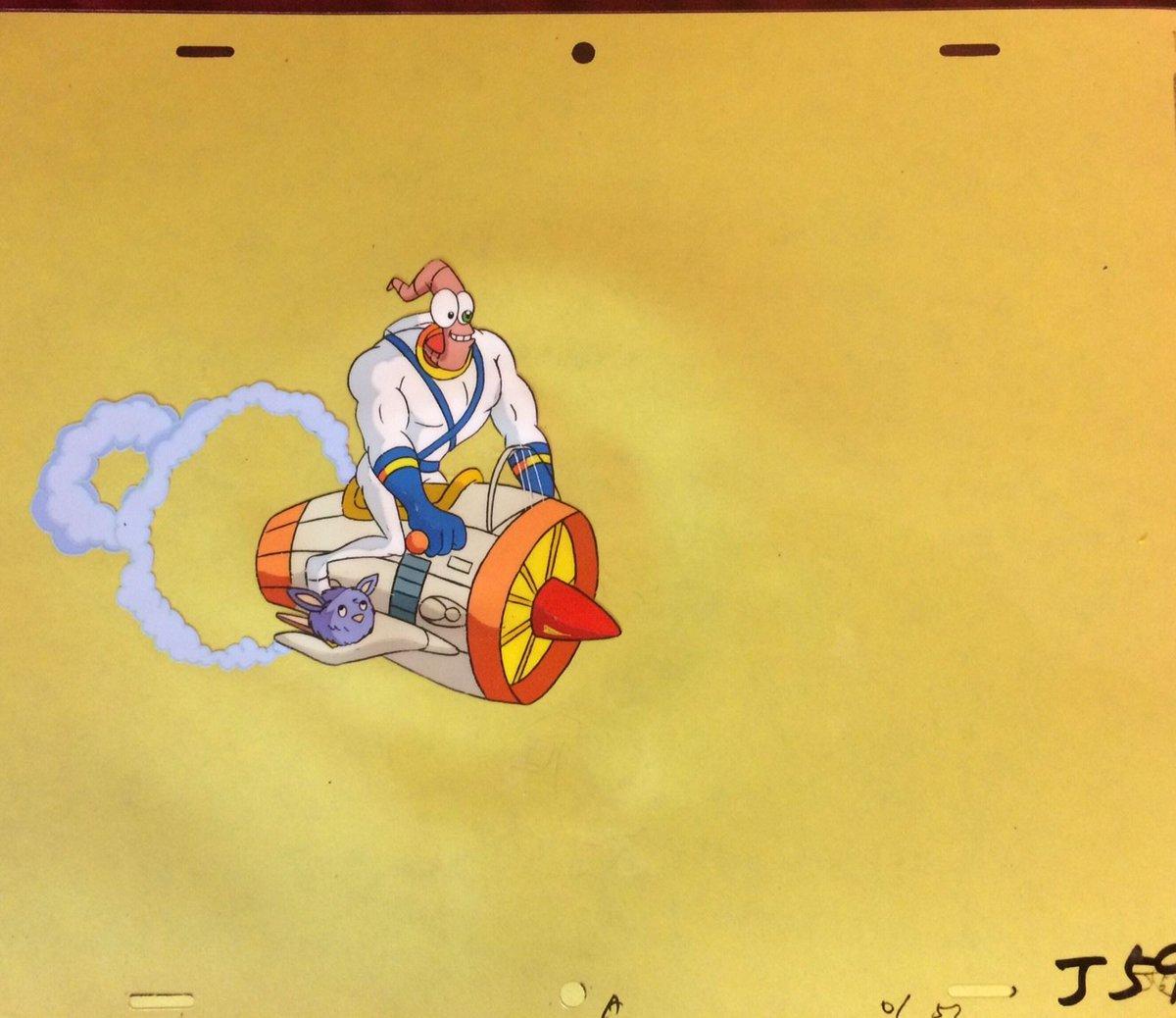 Cartoon Animated Earthworm Jim