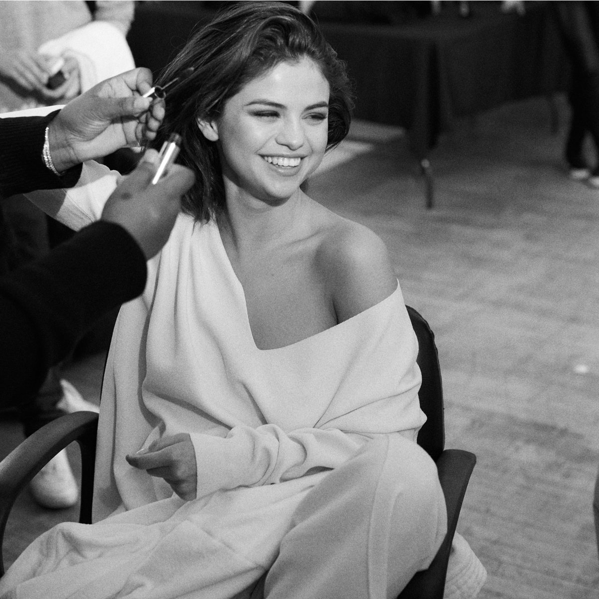 In the hot seat with #SelenaGomez behind the scenes of our fall campaign. #CoachxSelena #CoachNY