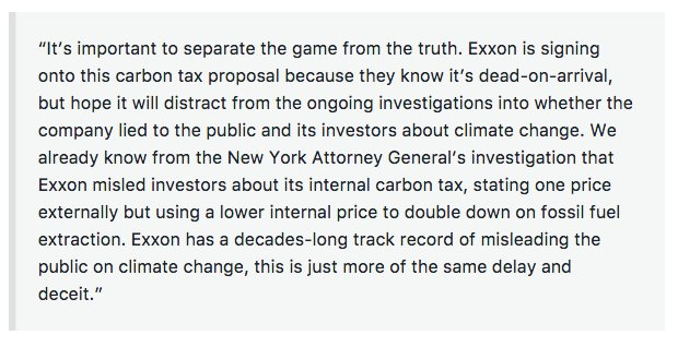 Exxon supporting a carbon tax?! Here's our @350 take (hint: don't trust them) #ExxonKnew  http:// bit.ly/2sPgAcM  &nbsp;  <br>http://pic.twitter.com/CkyEt9rOJD