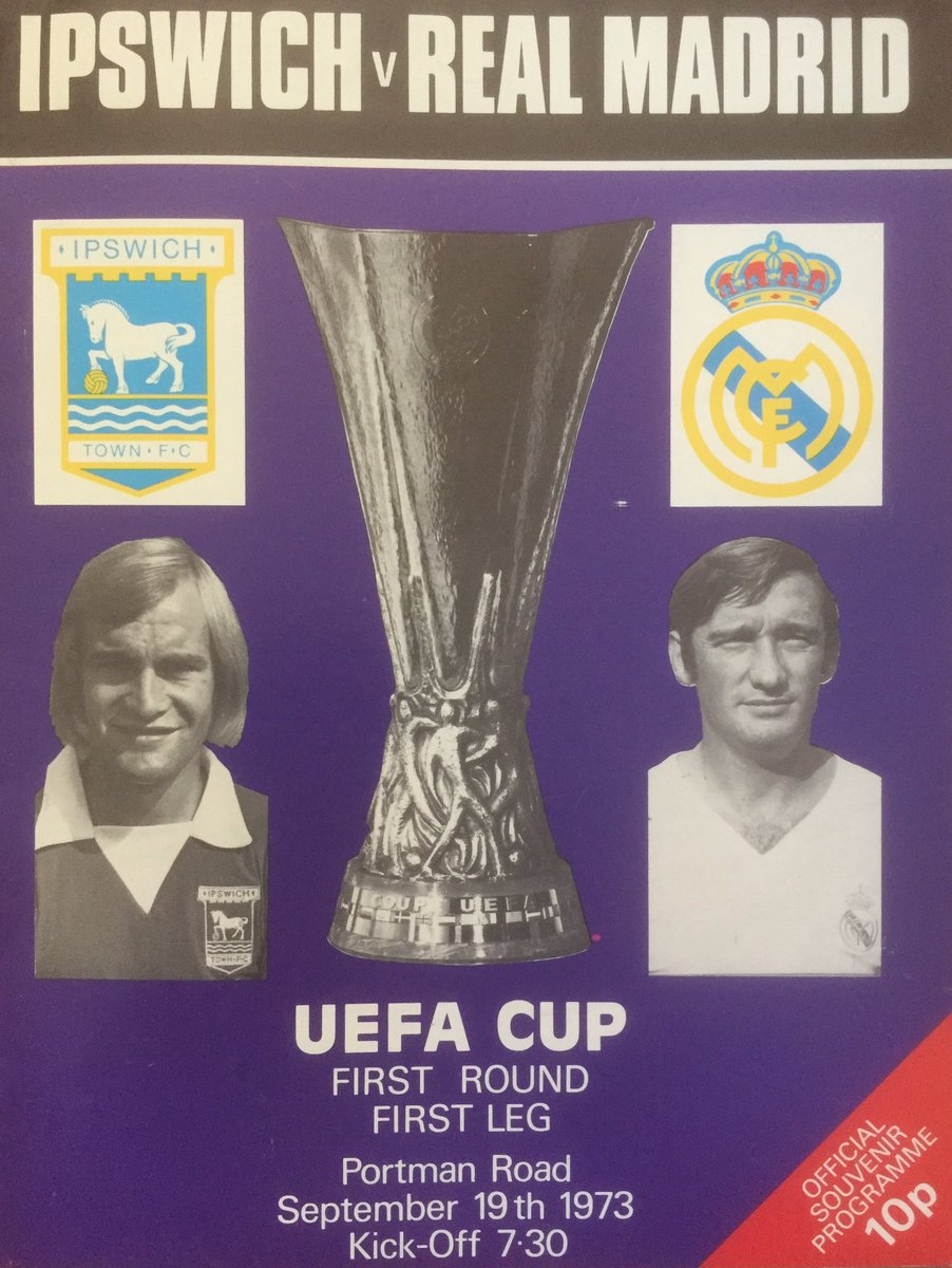 #ITFC v #RealMadrid  UEFA Cup 1st Round 1st Leg  19/9/1973 (1-0)   http:// youtu.be/ZHIXlsesB9I  &nbsp;   @NakedFooty @lewyitfc @darrenelmy01 #Ipswich<br>http://pic.twitter.com/DM0ep97sNj