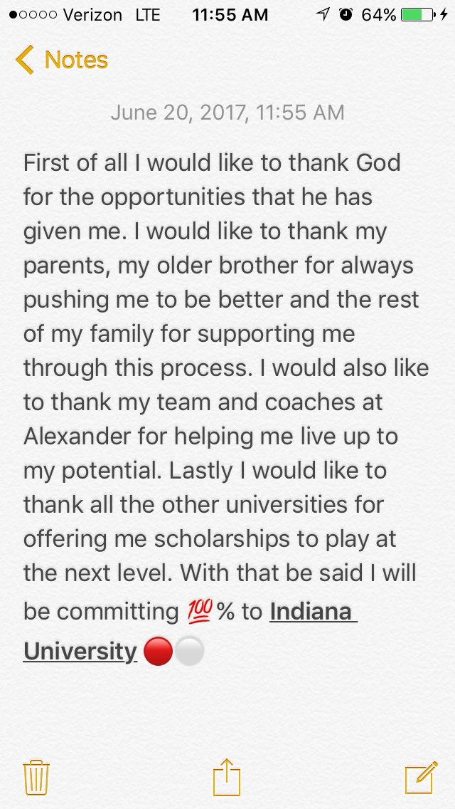 Blessed to say I have committed to Indiana University 🔴⚪️ #BreakThroug...