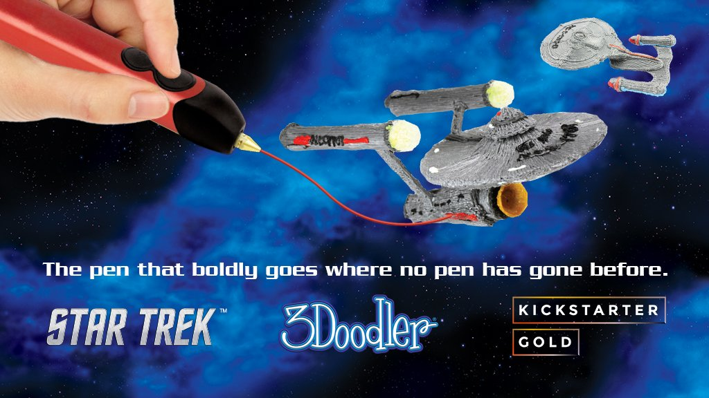 Hey @3Doodler any chance I can make a few Vulcan ears with your #Kickstarter exclusive @StarTrek Edition? kickstarter.com/projects/13519… #TOS #ad