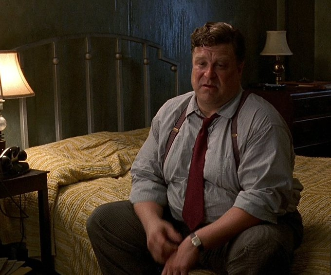 Also: happy birthday to John Goodman, seen here patiently waiting for me to join him. In bed. For sex.