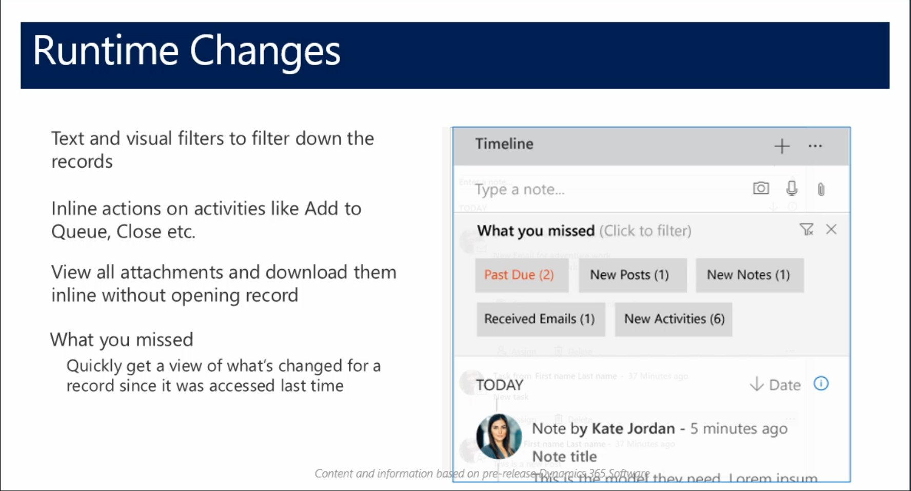 """Like how #MSDyn365 is updating the User Experience for Activities, Notes and Posts including this feature """"What you missed"""" #Dynamics365 https://t.co/ansmyRzkIZ"""