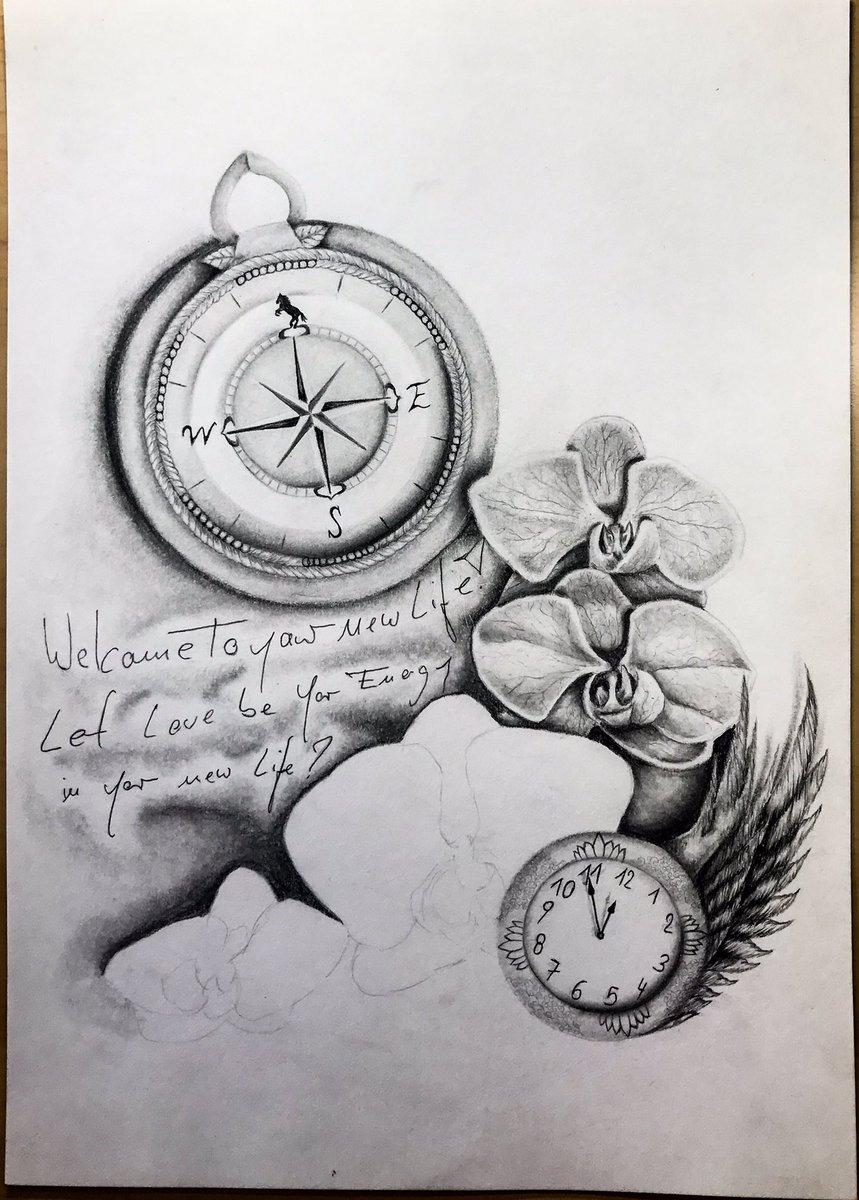 "Großartig Orchideen Tattoo Galerie Von Jennysdrawings/photo On Twitter: ""work In Progress #tattoo"