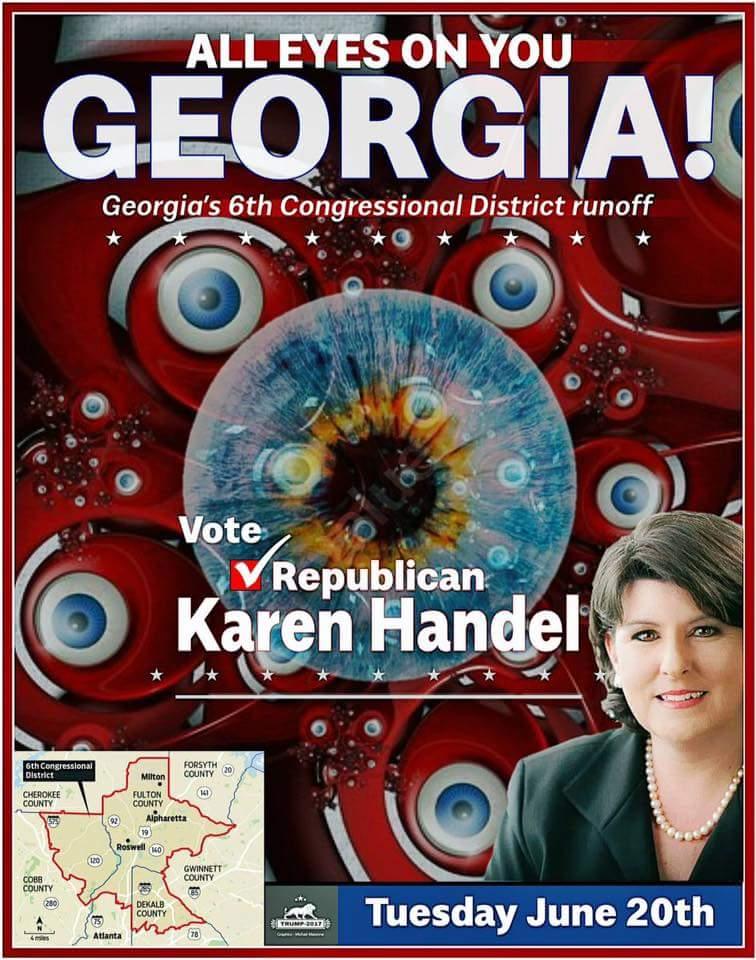 Please r/t #Handel4Congress #Georgia #SpecialElection #TeamTrump #Yuge <br>http://pic.twitter.com/6f6NzlRzrl