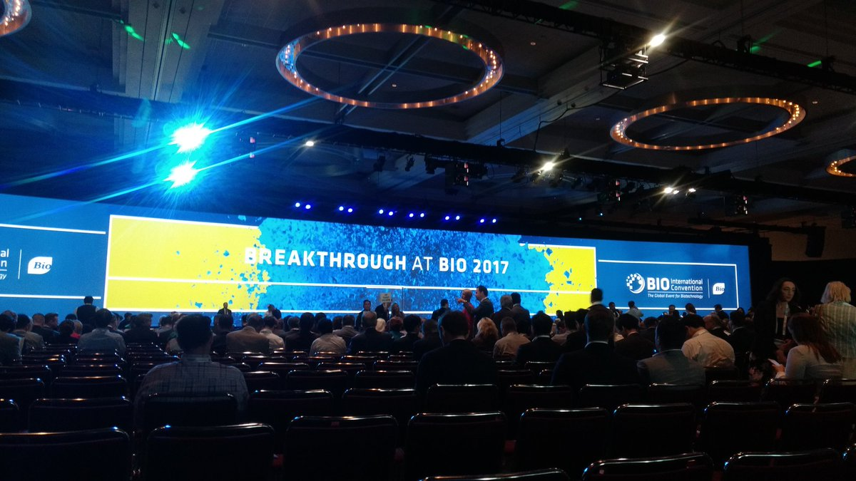 &quot;the future of #biotechnology has finally arrived&quot; - @JimGreenwood introducing @David_Cameron&#39;s keynote address #BIO2017<br>http://pic.twitter.com/s4e45gqHk6
