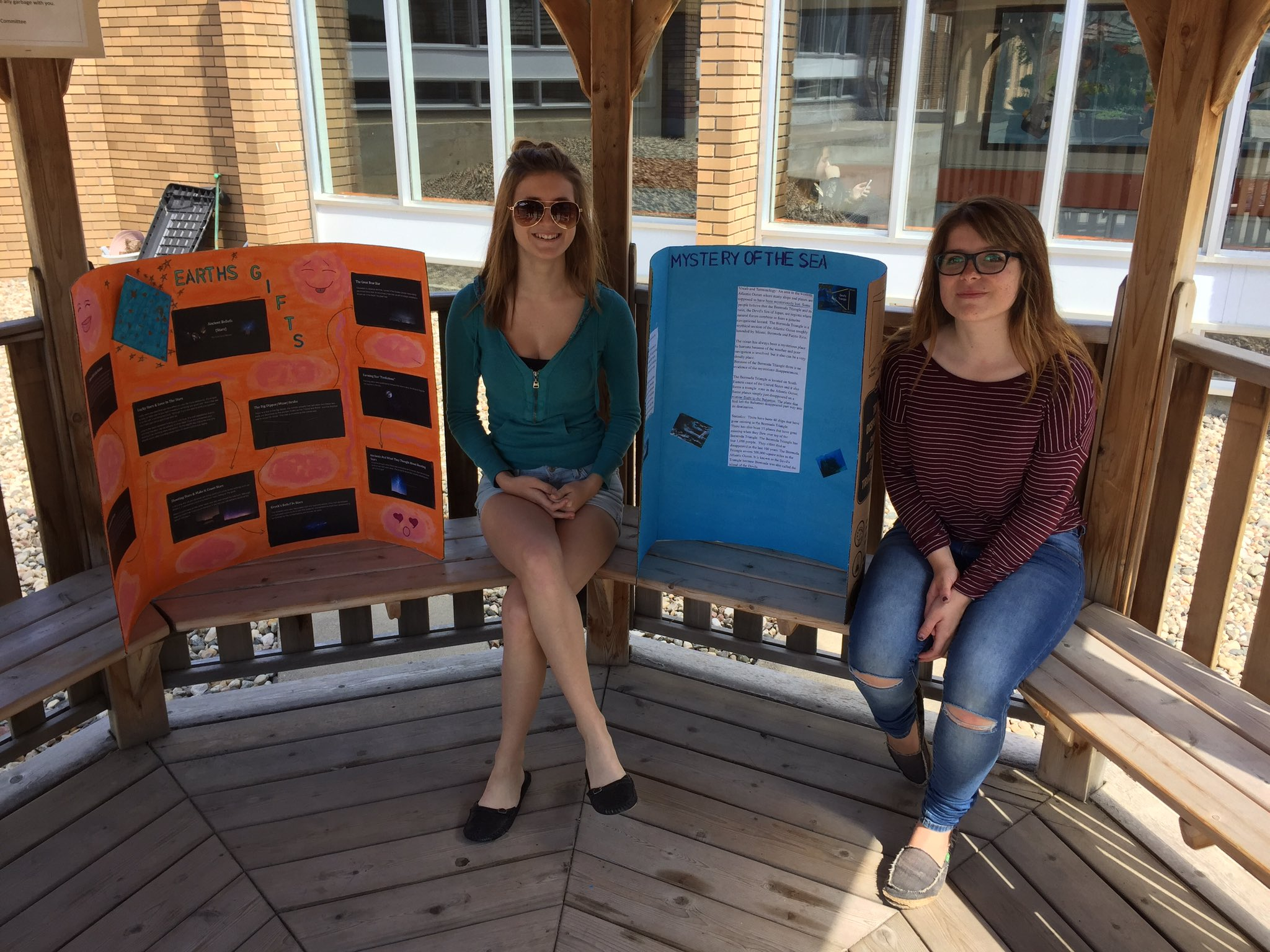 Practicing for presentations and enjoying the nice weather!  #lovesummer #yrhs https://t.co/nrrQpsKGkS