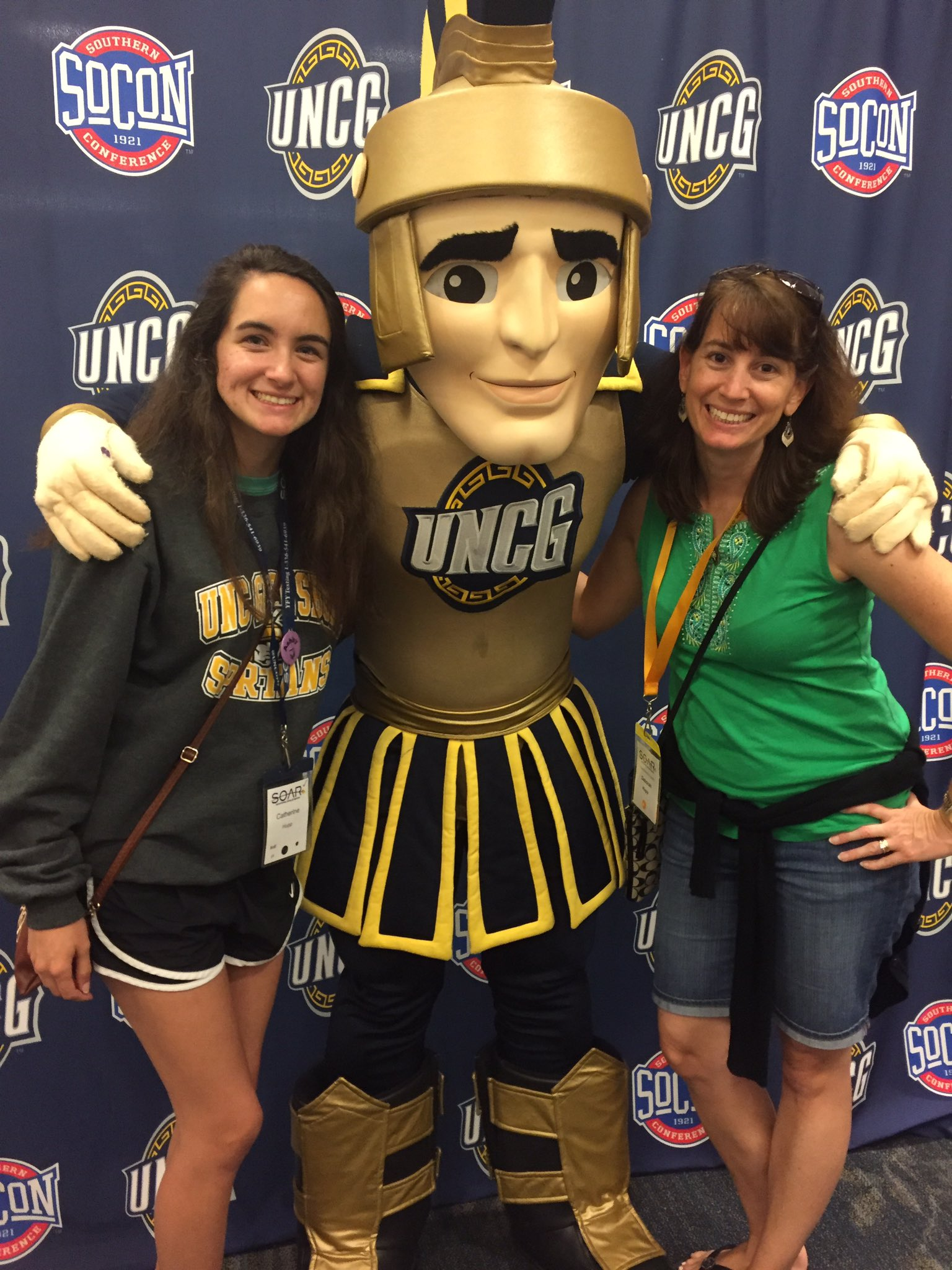 #UNCGsoar great 2 days @Cathupp is stoked to get school started #class2021 @UNCG https://t.co/DtQPf8eX7y