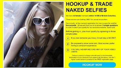 hookup now fake