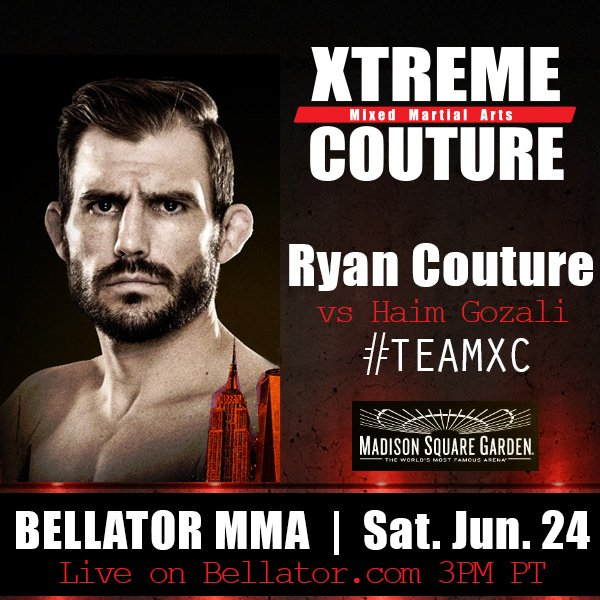 On the way with @RyanDCouture who fights Sat. 6/24 on @BellatorMMA #Te...