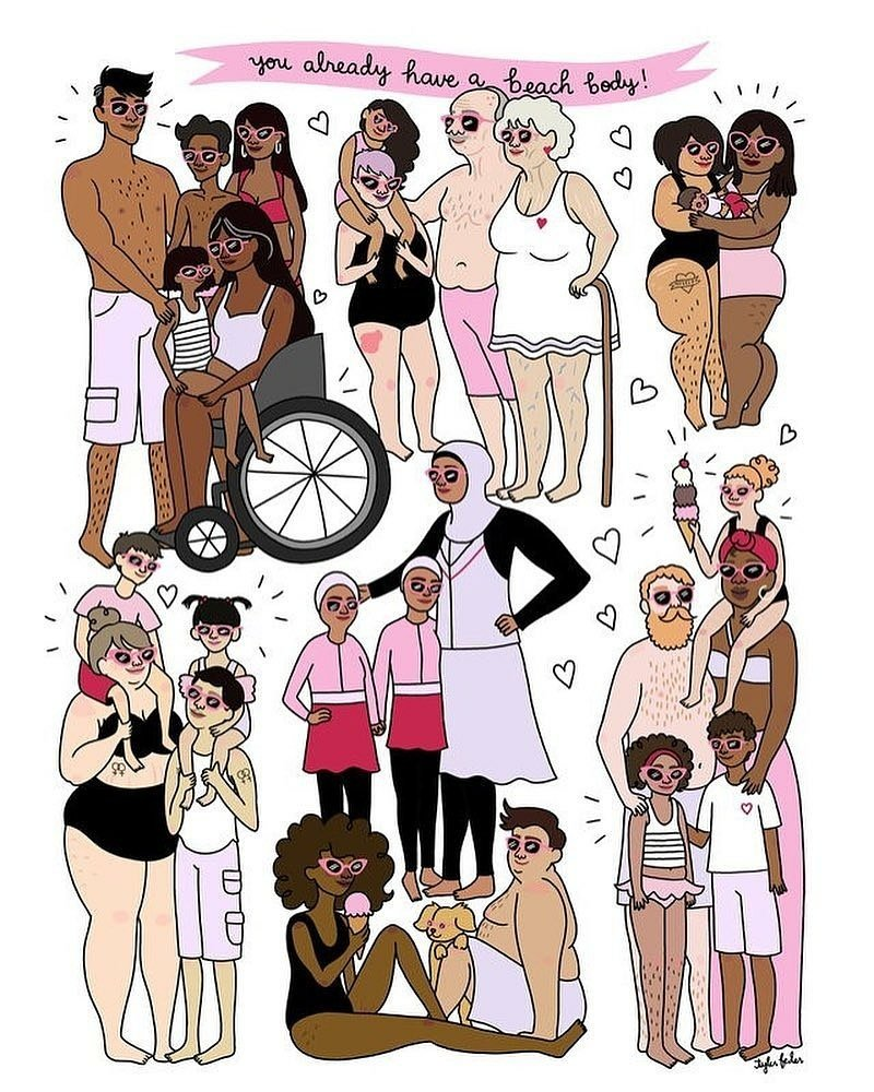 You already have a beach body. : @roaringsoftly #bodypositive #beachbody #selflove #summerbody<br>http://pic.twitter.com/kp08sGas0K