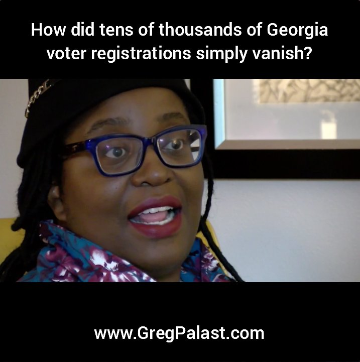 Help spread the word about #VoterSuppression—ie #ElectionFraud—in the #GA06 runoff election. Plz share this video  https://www. facebook.com/GregPalastInve stigates/videos/10155399935007128/ &nbsp; … <br>http://pic.twitter.com/Jcv0fgOeEM