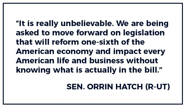 And here is what Senator Hatch had to say: