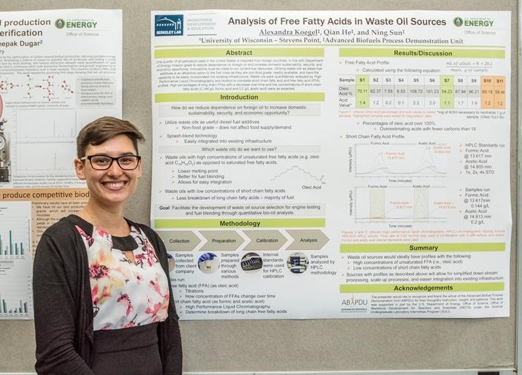 Alexandra Koegel @UWMadison analysed free fatty acids in waste oil sources during #ABPDU #internship. #BioBSE #BioSciNextGen https://t.co/lAgZLdCc4u