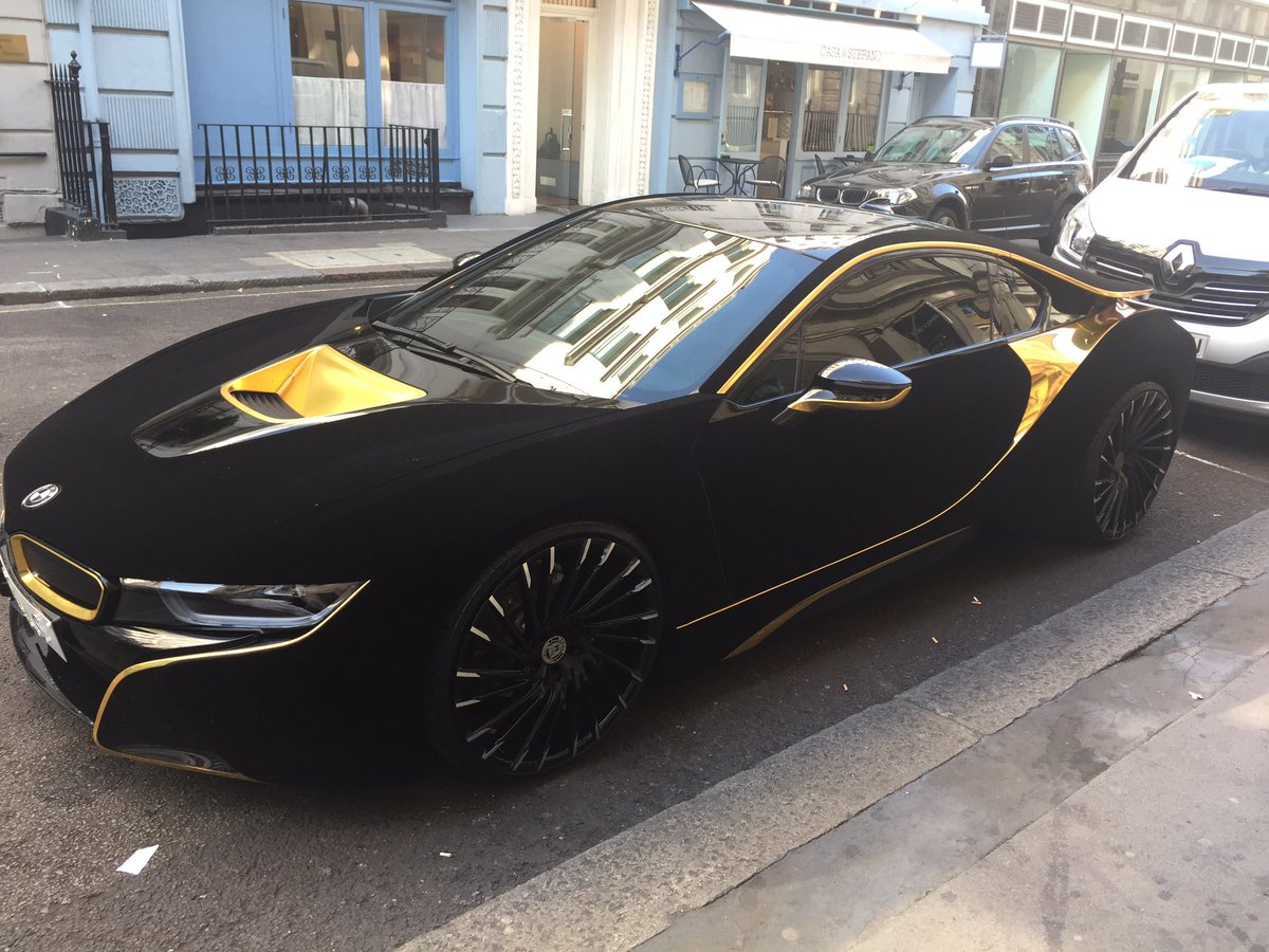 Bmw I8 Black And Gold Idokeren Com
