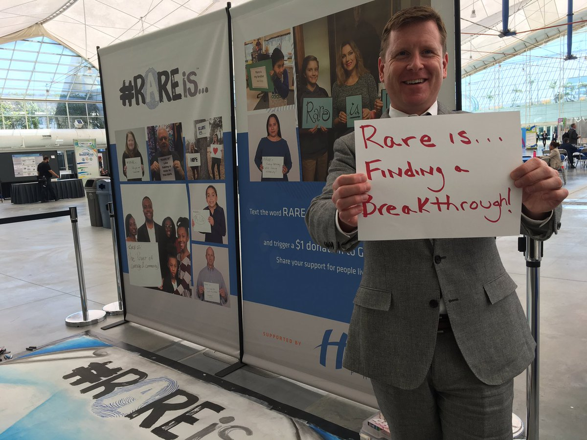 #RAREis finding a breakthrough. Text RARE to 56512 to trigger a donation to @GlobalGenes. @BIOConvention #BIO2017 #raredisease <br>http://pic.twitter.com/MQ1yILHA0V