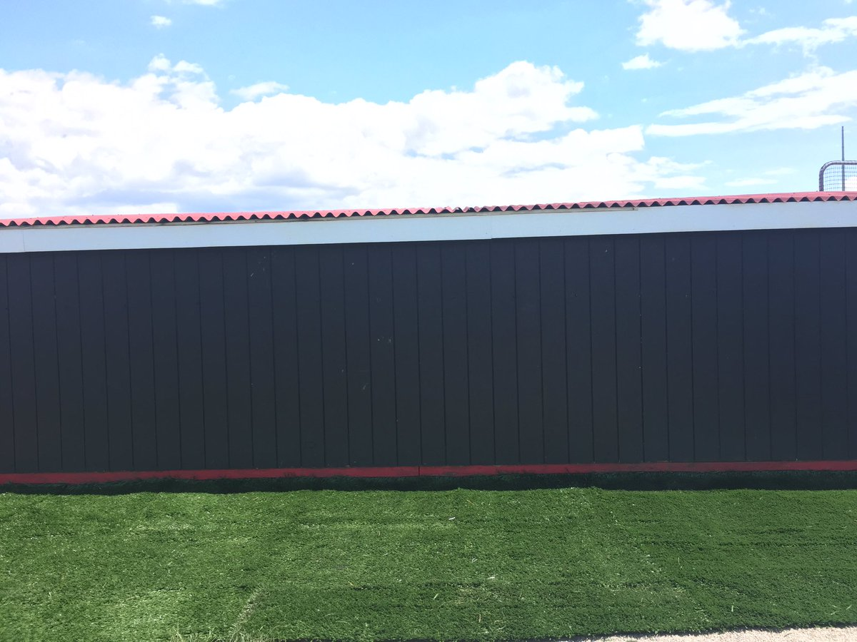 Section #1 Complete  Brand new turf behind our dugout with Brand new dugout signage coming soon! #newteam #newyear #newlook #gocards#CUAA<br>http://pic.twitter.com/VLbYqsbDnF
