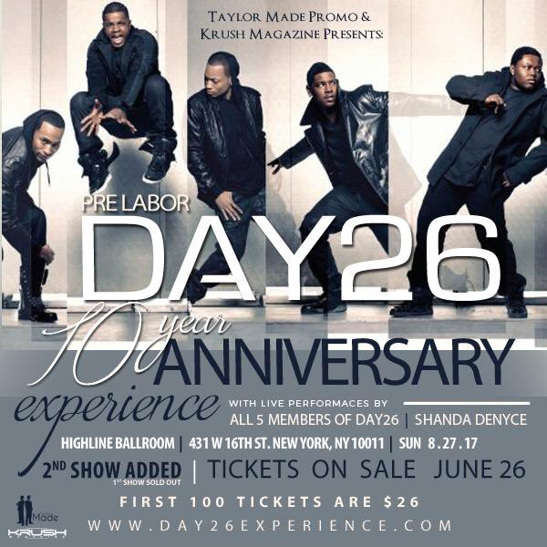 You asked for it so here it is The Day26experience 2nd show has been added due to a sold out show August 27 tickets go on sale June 26th https://t.co/Cx1ZY5Rsuj