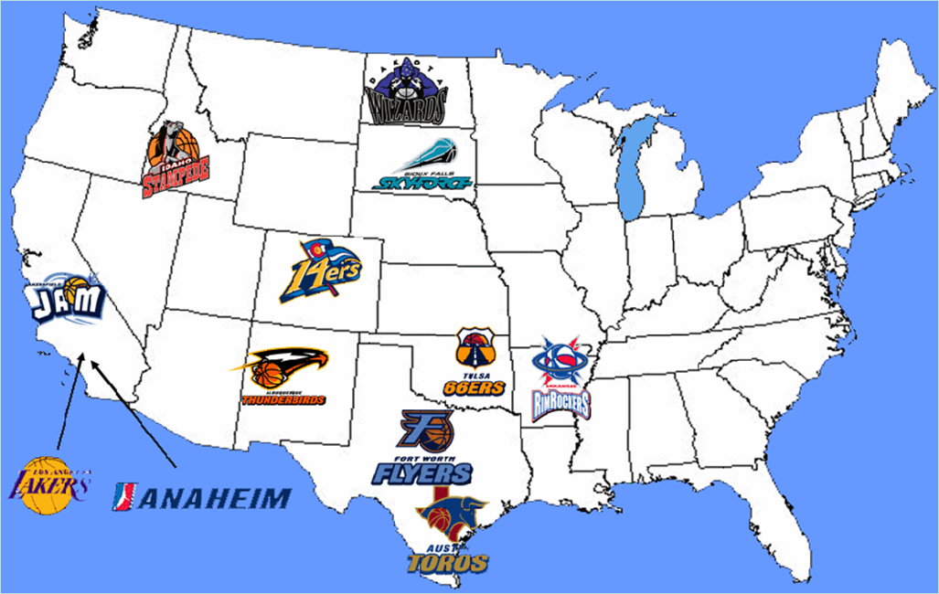 Sioux Falls Skyforce On Twitter New Teams Entering The - Us map nba teams